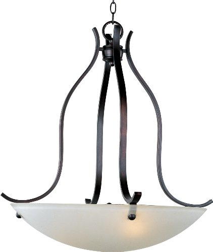 B001CACKY6 Maxim Lighting 21263FTOI Contour 3-Light Invert Bowl Pendant, Oil Rubbed Bronze Finish with Frosted Glass
