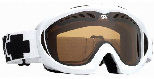 SPY OPTIC TARGA II WHITE GOGGLE BRONZ LENS SNOW GOGGLES