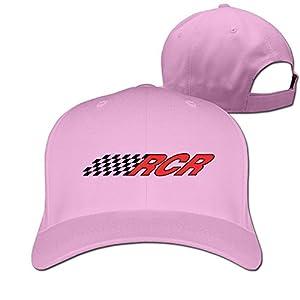 Adult Rcr Nascar Cotton Adjustable Peaked Baseball Cap Pink