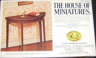 The House of Miniatures Hepplewhite Side Table No. 40004 - 1