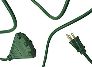 westinghouse green 3 prong outdoor power cord with 3 outlet block 22 39. Black Bedroom Furniture Sets. Home Design Ideas
