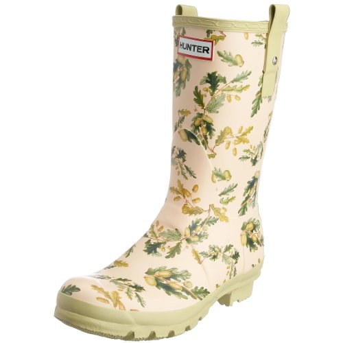 Hunter Women's RHS Short Wellies Oak Leaves & Acorns W23604 3 UK