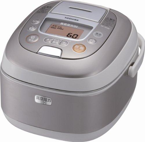 【真空と圧力でお米が本来持つ甘みを引き出す】TOSHIBA 真空圧力かまど炊き 真空圧力IH保温釜 1.8L(1升) レディッシュゴールド RC-18VSE(N)