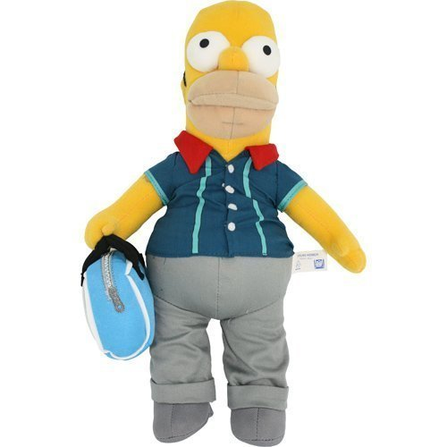 Simpsons Homer Bowling Plush Toy by Russ Berrie