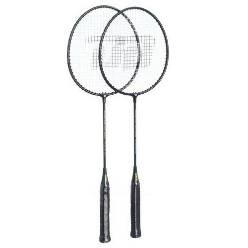 DHS Iron Alloy Badminton Racket #209, Badminton Rackets, 2 Rackets/Set - Green