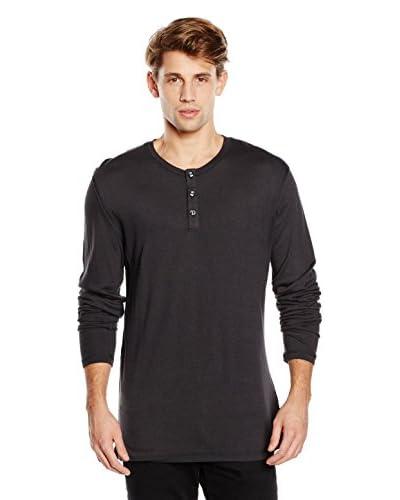Tru Trussardi Camiseta Manga Larga Serafino Gris Oscuro
