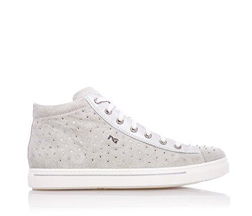 NERO GIARDINI - Sneaker beige stringata, in camoscio, strass, donna, ragazza, ragazze, Bambina-28