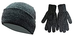 Combo of Woolen Skull Cap & Woolen Gloves - Grey