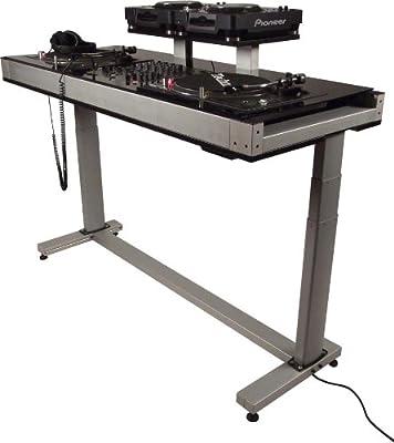 DEX ESCL8-2T-CDJ HEIGHT ADJUSTABLE DJ Turntable Stand DJ