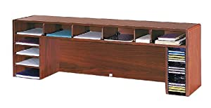 2 Safco High Capacity Desk Top Organizer 58 5 Inches Width X 18 Inches Height Cherry 3661cy Office Products O Cd Or Dvd Disc Media Storage