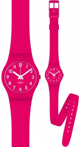 Swatch Pink Berry Plastic Ladies Watch LR123