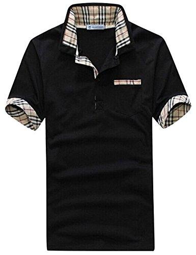 グラストア(Glestore)メンズ 半袖 ポロシャツ 半袖 お洒落な重ね着スタイル チェックポロシャツ カジュアル シンプル 無地 スキニー ファッション カッコイイ スポーツウェア ゴルフウェア 快適 多色選択 M-XXL
