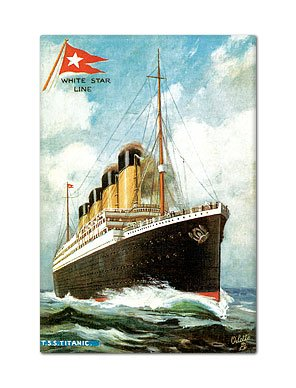 Titanic Vintage Postcard Reproduction Fridge