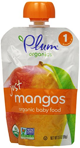 Plum Organics Baby Just Fruit, Mangos, 3.5-Ounce Pouches (Pack Of 12) front-59104