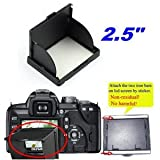 Well-Goal Black Universal Pop-up Hood Protector Shade for 2.5 inch LCD Screen Cameras Canon EOS 5D 30D 400D/Digital Rebel XTi, Nikon D80, Pentax K10D K100D, Sony ¦Á100, Kodak Z1012 Z1085 C875 Z812 IS, Olympus E-510 E-410, Fuji S5800 S8100 S5700 S700