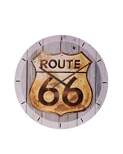 Artopweb Orologio Da Muro Route 66 Golden Sign