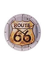 Artopweb Reloj De Pared Route 66 Golden Sign