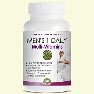 Men's 1-Daily Multivitamin - Best Multi Vitamins for Men - Supports Healthy Heart, Immunity, Energy and Overall Wellbeing - For Men of Any Age - Over 50 or Under 50 - Made in USA - Highest Quality