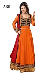 surat saree Bollywood stylish FENTA SATIN Ebroideired Fancy anarkali.