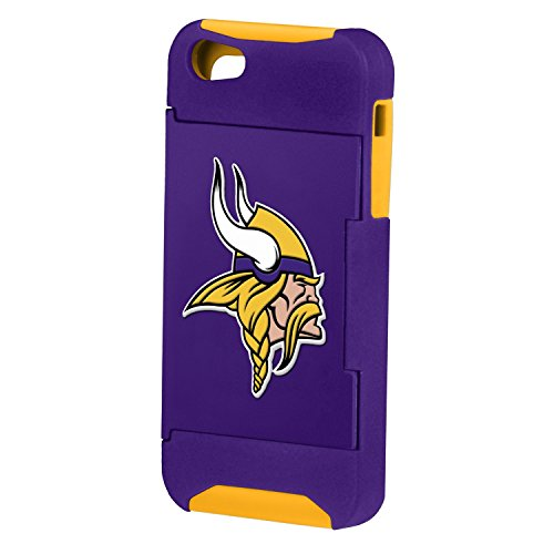 Forever Collectibles Nfl Hideaway Credit Card Iphone 5 Hard Case - Retail Packaging - Minnesota Vikings