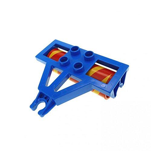 1 x Lego Duplo Anhänger Walze blau rot orange