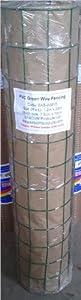 PVC GREEN COATED GARDEN WIRE FENCE FENCING HEAVY DUTY 1.2M x 10M = WM14