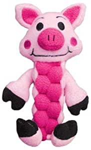 KONG Pudge Braidz Pig Dog Toy, Medium/Large