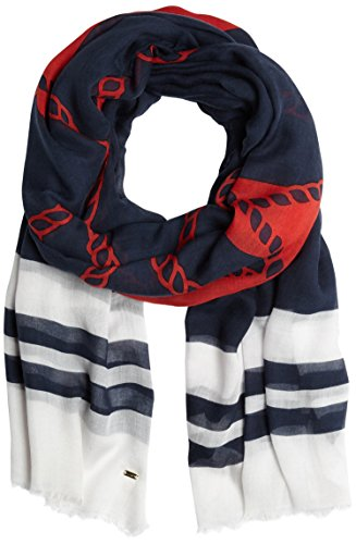 Tommy Hilfiger, Sciarpa Donna, Rosso (Anchor Scarf Apple Red 609), One Size (Taglia Produttore:OS)