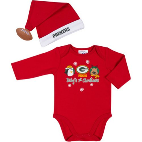NFL Green Bay Packers Baby's 1st Christmas 2 Piece Dress up Outfit at Amazon.com