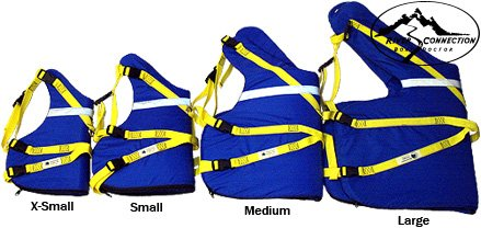 Canine Flotation Device CFD PDF Life Jacket - Xsmall Whitewater Designs Rafting Dog PFD