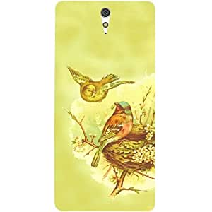 Casotec Chaffinches Nest Design Hard Back Case Cover for Sony Xperia C5 Ultra Dual