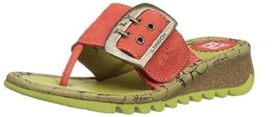 Fly London Women's Trin Devil Red Wedges Heels P500201028 4 UK