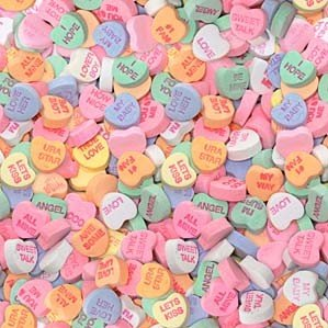 Necco classic Conversation Hearts 1 lb. - 8 Unit Pack