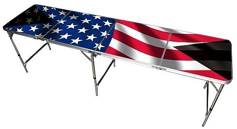 Purchase American Flag Beer Pong Table 8-Feet - Premium HD Design