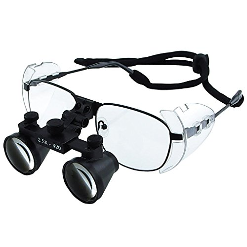 Generic 2.5X Dental Loupes Titanium Frame