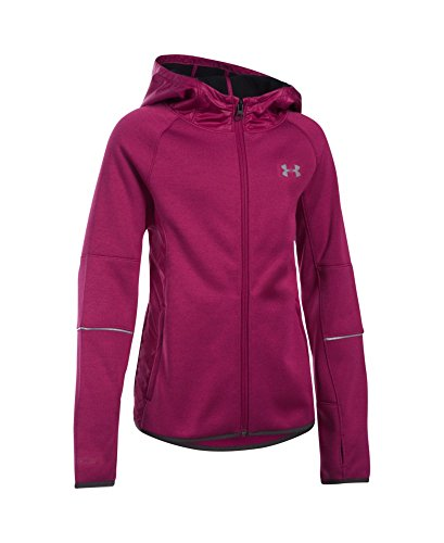 Under Armour Girls' Swacket, Black Cherry (702), Youth Large