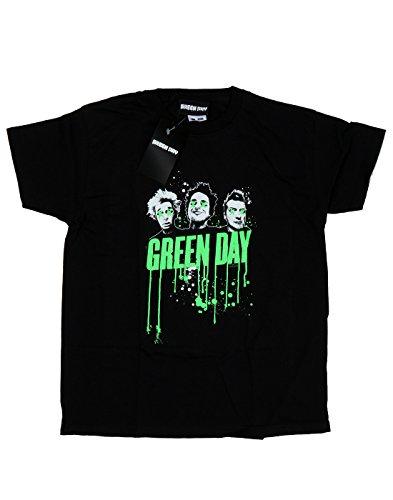 Green Day Bambini e ragazzi Band Drip Maglietta 7-8 Years Nero
