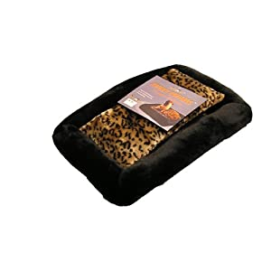 Terra Pet  Deluxe Pet Bed, Super Soft Synthetic Fur with Reversible Center Pillow
