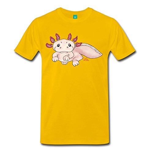 Spreadshirt Herren Axenia Axolotl T-Shirt, sonnengelb, 5XL