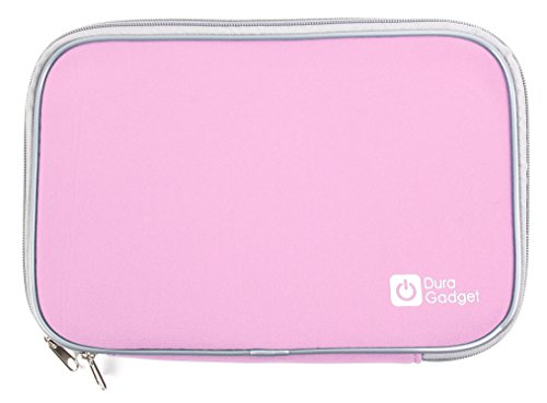 duragadget-pink-travel-shock-resistant-neoprene-carry-case-with-dual-zips-for-sylvania-sdvd9805-9-in