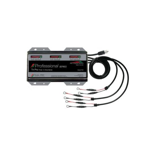 Dual Pro 15 Amp/Bank Professional Series 3 Bank Charger (Boat Battery Charger 3 Bank compare prices)