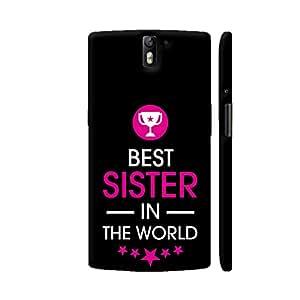 Colorpur Rakhi Special Best Sister In The World On Black Artwork On OnePlus One Cover (Designer Mobile Back Case) | Artist: Dolly P