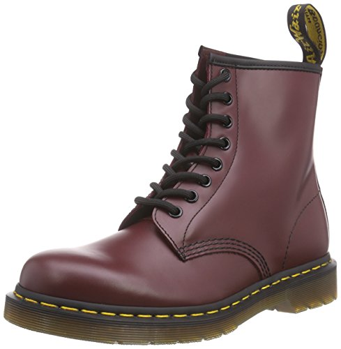 Dr. Martens 1460z 8 Eye Boot Black, Stivaletti Unisex - Adulto, Rosso (Cherry Red), 36 (3 UK)