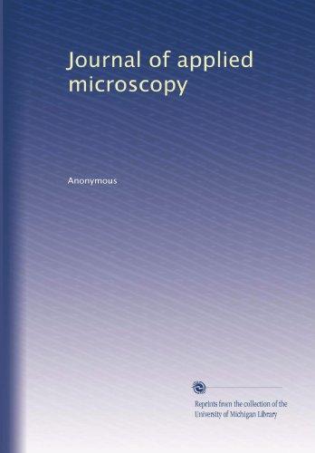 Journal Of Applied Microscopy (Volume 2)