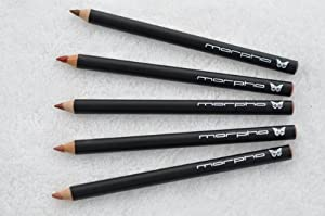 Anamu, Cumary, Puca Panga, Tonka, Zanga - SET of 5 Creamy Lip Perfecting Pencils with Sheer Sheens of pink, gold or bronze provide long lasting lip color - Morpho Cosmetics