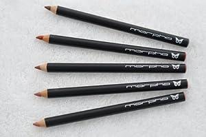Anamu, Cumary, Puca Panga, Tonka, Zanga - SET of 5 Creamy Lip Perfecting Pencils with Sheer Sheens of pink, gold or bronze provide long lasting lip color - Morpho Cosmetics