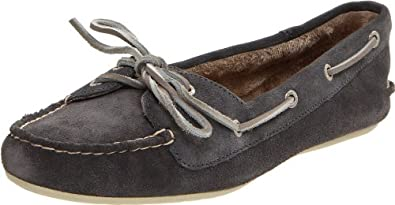 Sperry Top-Sider Women's Skiff Moccasin,Graphite,6.5 M US