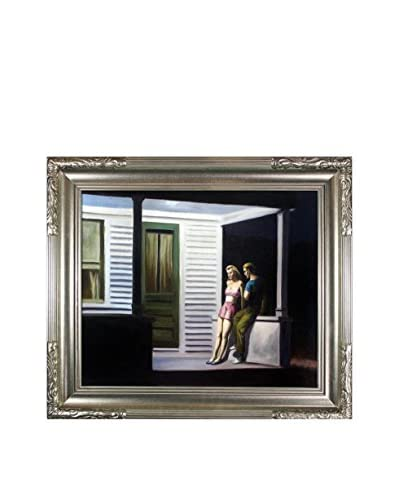 "Edward Hopper's ""Summer Evening"" Framed Hand Painted Oil On Canvas, Multi"