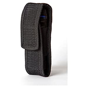 Ultimate Arms Gear Pro Stealth Black Universal Portable Pistol Handgun Mag Magazine Ammo Ammunition Molded Protector Adjustable Nylon Pouch Carrier Gear Velcro Closure with Fixed Attachable Belt Velcro Hook & Loop Police - Law Enforcement - Security - Hunting - Emergency Personal - Duty Belt Accessories
