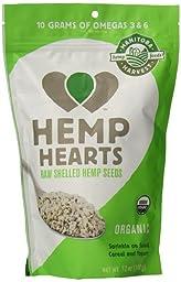 Manitoba Harvest Organic Hemp Hearts Raw Shelled Hemp Seeds, 12 Ounce